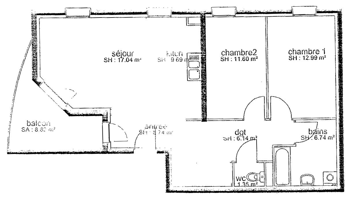 Plan de l 39 appartement for Plan du site de logement